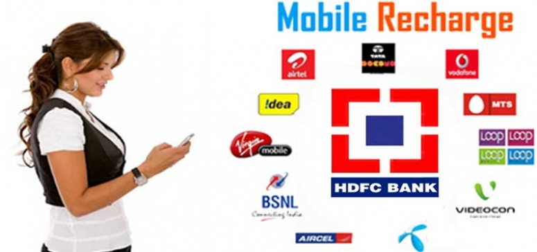 HDFC offers prepaid mobile recharge services through missed call