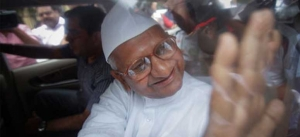 Hazare blames Centre on lacking of its will to fight against corruption