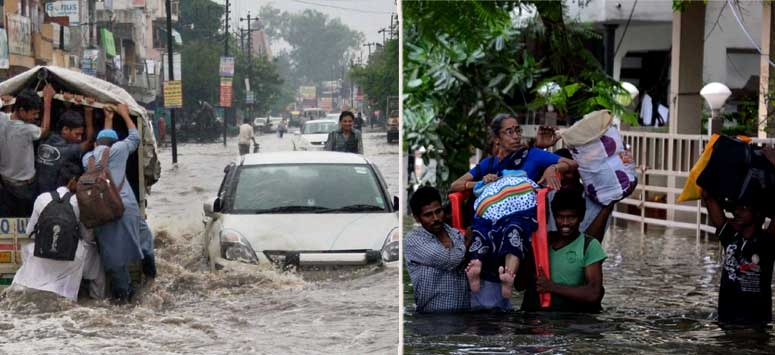 Heavy rains throwing the normal life in Tamil Nadu