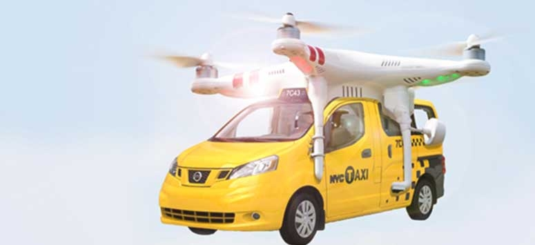 Flying Taxis which can be operated with our mobile phones