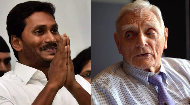 Nobel prize winner Goodenough heaps praises on Jagan's scheme