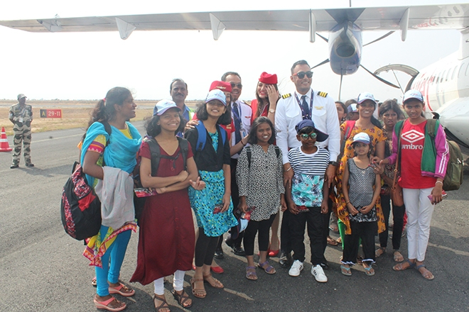 Air Travel Experience To Orphan Children by Truejet